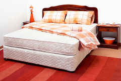 Mattress. With sheets and pillows Royalty Free Stock Image