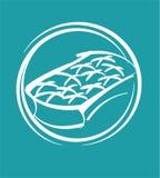 Mattress. Symbol of mattress Stock Image