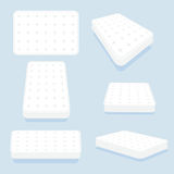 Mattress in all positions set Royalty Free Stock Images