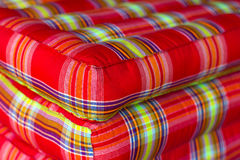 Mattress fabric edges close Stock Photo