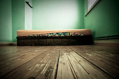Mattress in green painted room Royalty Free Stock Photos