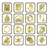 Mattress icons. Set of 16 mattress icons Royalty Free Stock Photography