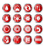 Mattress icons. Set of 16 mattress icons Stock Image