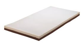 Mattress made of sponge and coconut fiber Stock Photo