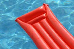 Mattress in the pool Royalty Free Stock Images