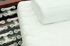 Mattress an slatted frame royalty free stock photography