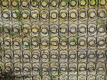Mattress spring circle pattern background. Background of old fashioned mattress springs used as a fence Royalty Free Stock Image