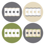 Mattress Structure Icons Set Royalty Free Stock Image