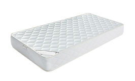 Mattress that supported you to sleep well all night isolated on Royalty Free Stock Photos
