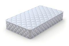 Mattress. White mattress on white background - 3D illustration Royalty Free Stock Image