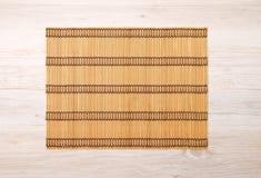 Mattt för bambuställe Royaltyfri Foto