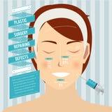 mature över plastikkirurgiwhitekvinna Arkivfoton