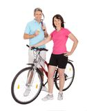 Mature active couple doing sports Royalty Free Stock Photos