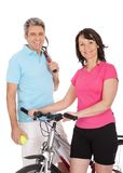 Mature active couple doing sports Stock Photo