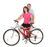 Mature active couple doing sports Royalty Free Stock Image