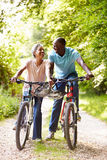 Mature African American Couple On Cycle Ride In Countryside Royalty Free Stock Photos