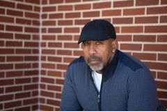 Mature African American man with a serious look. Mature African American man in deep thought Royalty Free Stock Photo