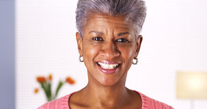 Mature African woman smiling at camera Stock Image