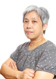 Mature asia woman Stock Image