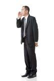 Mature Asian business man talk Royalty Free Stock Photo