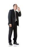 Mature Asian business man talk Royalty Free Stock Photography