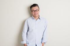 Mature Asian man portrait Royalty Free Stock Photography