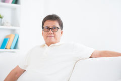 Mature Asian man portrait Royalty Free Stock Photos