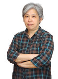 Mature asian woman Royalty Free Stock Photo