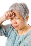 Mature asian woman feel headache Stock Photo