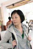 Mature Asian women at street Royalty Free Stock Photos