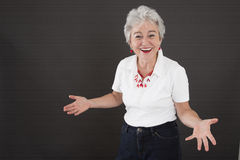 Mature attractive woman with lust for life Royalty Free Stock Photos