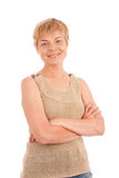 Mature attractive woman smiling Stock Photography