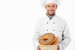 Mature baker Royalty Free Stock Image