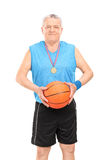 Mature basketball coach posing Royalty Free Stock Photo