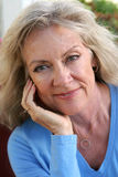 Mature Beauty - Relaxed Royalty Free Stock Photos