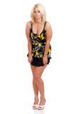 Mature blond fashion model Royalty Free Stock Image