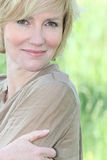 Mature blonde lady Royalty Free Stock Image