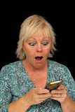 Mature Blonde Woman with Cell Phone (3) Stock Photography