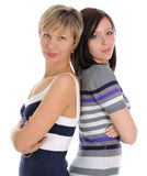 The mature blonde and young brunette Stock Photography