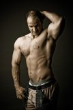 Mature bodybuilder Royalty Free Stock Image