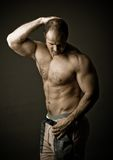Mature bodybuilder Royalty Free Stock Images