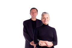 Mature business couple Royalty Free Stock Image