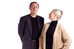 Mature business couple Stock Images