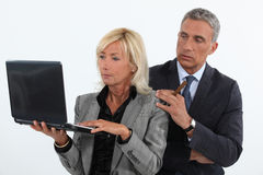 Mature business couple Royalty Free Stock Photography