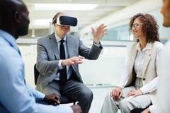 Virtual presentation Stock Photography