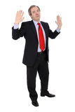 Mature business man gesturing Royalty Free Stock Images