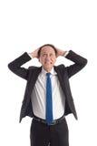 Mature business man looking up Stock Photos