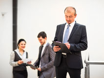 Mature business man  at office Royalty Free Stock Images