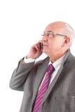Mature business man at phone Stock Photos