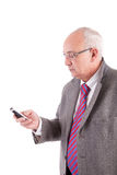 Mature business man at phone Stock Photography
